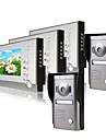 tre monitor a colori da 7 pollici videocitofono sistema di porte (fotocamera 2alloy copertura resistente alle intemperie)
