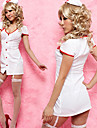 hot girl polyester blanc infirmiere costume coupe-bas (2 pieces)