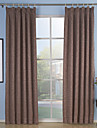Two Panels Neoclassical Solid Beige Brown Purple Red Living Room Polyester Panel Curtains Drapes