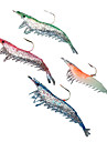 Soft Bait Shrimp with Hook 60MM 4.5G Silicon Fishing Lure Packs (4 pcs)