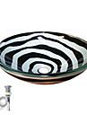 Nutida T12mmxΦ420xH145 Rund sink Material är Härdat Glas Badrums Monteringssing / Köks Vattenavlopp