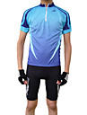 JAGGAD® Maillot de Cyclisme Homme Manches courtes Velo Respirable Sechage rapide Maillot Hauts/Tops Polyester Printemps Ete Cyclisme/Velo