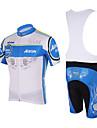KOOPLUS® Maillot et Cuissard a Bretelles de Cyclisme Homme Manches courtes Velo Respirable / Sechage rapideMaillot +