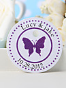 Personalized Favor Tag - Purple Butterfly (Set of 36)