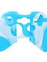 protection etui en silicone a double couleur pour Xbox 360 Controller (blanc et bleu)
