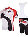 KOOPLUS® Cykeltröja med Bib-shorts Herr Kort ärm Cykel Andningsfunktion / Snabb torkCykeltröja + shorts / Cykeltröja + cykelshorts med