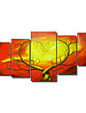 dipinti a mano olio su tela astratta con telaio allungato - set di 5