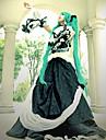 Inspirerad av Vocaloid Hatsune Miku Video Spel Cosplay Kostymer/Dräkter cosplay Suits / Klänningar Lappverk Svart Lång ärmKlänning /