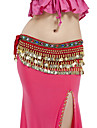 Belly Dance Belt Women\'s Performance Polyester Beading / Coins 1 Piece Black / Blue / Fuchsia / Green / Purple / Red / White / Yellow
