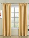nouveau style jaunes solides rideaux de polyester rideaux