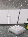 Guest Book / Pen Set Satin Garden ThemeWithBow / Rhinestones