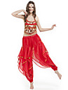 Belly Dance Outfits Women\'s Performance Chiffon Beading / Coins Black / Blue / Fuchsia / Green / Pink / Purple / Red / YellowBelly Dance