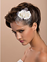 Tule Vrouwen Helm Bruiloft/Speciale gelegenheden/Casual/Outdoor Fascinators/Bloemen Bruiloft/Speciale gelegenheden/Casual/Outdoor