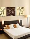 arbre theme horloge murale de style moderne en toile 3pcs