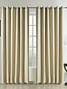modernes deux panneaux solide chambre beige rideaux a panneaux en polyester opaques