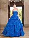 Ball / Formeller Abend / Quinceanera / Jugendweihe Kleid - Vintage inspiriert A-Linie / Ballkleid / Prinzessin Traegerlos Boden-Laenge