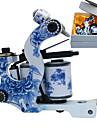 Bleu et Blanc Porcelaine Coil machine Tatoo Gun pour la doublure et l\'ombrage