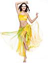 밸리 댄스 스커트 여성용 훈련 폴리에스터 타이 염색 1개 옐로우 밸리댄스 봄, 가을, 겨울, 여름 드롭 나와
