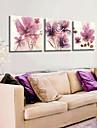 modern scenisk väggklocka i canvas 3st k0059