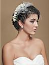 Hochzeitsschleier Einschichtig Gesichts Schleier / Netzschleier Schnittkante Tuell