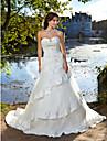 Lanting robe de bal de mariee grande taille / mariage petite robe train chapelle cherie