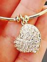 bracelete das mulheres de diamante coracao