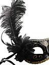 Masque Cosplay Fete / Celebration Deguisement Halloween Noir Couleur Pleine Masque Halloween / Carnaval / Nouvel an Unisexe PVC