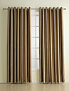 (Two Panels) Classic Embossed Polyester Blackout Curtain