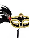 Masque Cosplay Fete / Celebration Deguisement Halloween Noir / Jaune Imprime Masque Halloween / Carnaval / Nouvel an Unisexe PVC