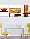 style moderne scenique toile horloge murale 3pcs k232