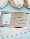 Personalized Wallet Bottle Opener - Set Of 4