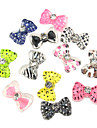 24PCS 3D Cover Resine Nail moitie Decorations Diamant Bow Tie Cartoon