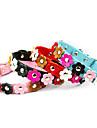 Katter Hundar Halsband Justerbara/Infällbar Blomma Röd Svart Blå Rosa PU Läder