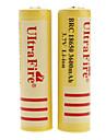 UltraFire 18650 3.7V Li BRC-ion rechargeable pour lampe de poche (2-Pack, jaune, 3600mAh)