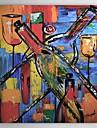 HANDMÅLAD Abstrakt / Stilleben En panel Kanvas Hang målad oljemålning For Hem-dekoration