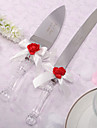 Stainless Steel Serving Sets Garden Theme White Bow Gift Box