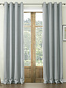 twopages® deux panneaux en polyester classique en relief floral rideau d\'occultation
