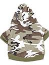 Chat Chien Pulls a capuche Vert Vetements pour Chien Hiver Printemps/Automne camouflage Mode