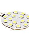 3W G4 LED a Double Broches 15 SMD 5050 210 lm Blanc Naturel DC 12 V