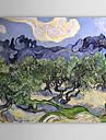 Peint a la main Celebre Un Panneau Toile Peinture a l\'huile Hang-peint For Decoration d\'interieur