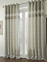 Barroco Two Panels Geometric Multi-color Living Room Polyester Panel Curtains Drapes