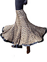 Dancewear Leopard Printed Viscose Modern Dance Skirt For Ladies