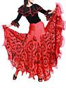 Ballroom Dance Skirts Women\'s Training Viscose As Picture Modern Dance Natural