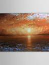 HANDMÅLAD Landskap / Abstrakta landskap En panel Kanvas Hang målad oljemålning For Hem-dekoration