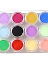 12 Color Nail Art Sculpture Carving Acrylic Powder 135g