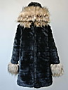 Nice Long Sleeve Hood Faux Fur Casual/Party Coat