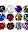 12 Manucure De oration strass Perles Maquillage cosmetique Nail Art Design