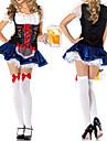 Cosplay Kostymer/Dräkter / Festklädsel Piguniform / Oktoberfest Festival/Högtid Halloween Kostymer Blå Spets KlänningHalloween / Karnival