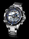 WEIDE Bărbați Ceas Sport Ceas de Mână Quartz Quartz Japonez LCD Calendar Cronograf Rezistent la Apă Zone Duale de Timp alarmăOțel