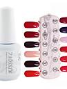 YeManNvYou®1PCS Sequins UV Color Gel Nail Polish No.37-48 Soak-off(15ml,Assorted Colors)